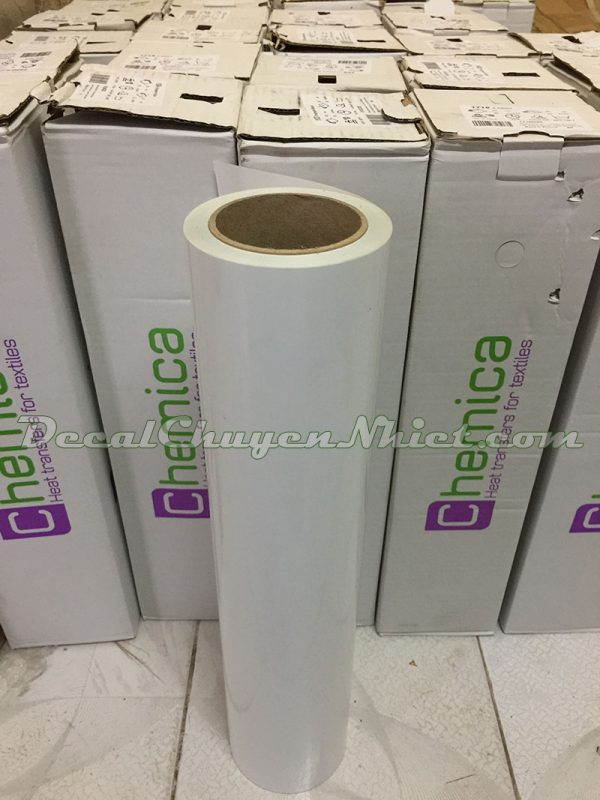 Decal chuyển nhiệt màu trắng Pháp PVC 101