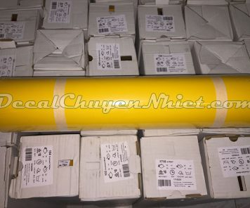 Decal chuyển nhiệt màu vàng ép áo PVC 104 của Pháp