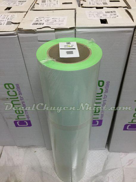 Decal ép nhiệt Pháp màu xanh lá Fluo Green 131 (PVC)