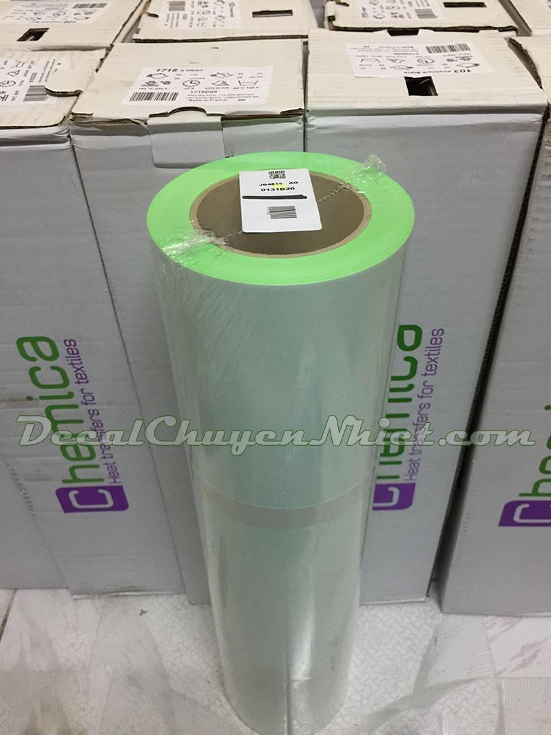 Decal ép nhiệt Pháp PVC màu xanh lá Fluo Green 131