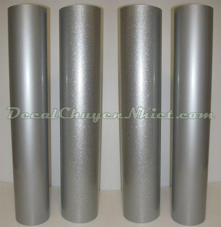 Decal chuyển nhiệt phản quang in áo thun 0,61x50m màu bạc