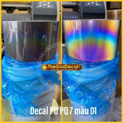 Decal phản quang 7 màu ép nhiệt PU có keo đế dính khổ 0,61x50m