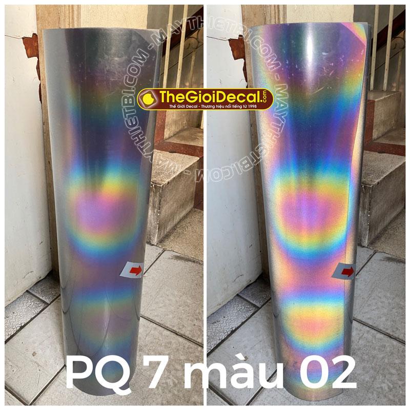 Decal phản quang bảy màu ép nhiệt loại 2